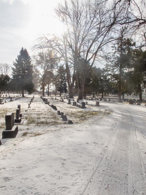 nice plowed cemetery...