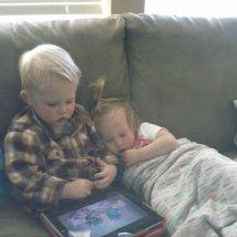 Awww, snuggles!