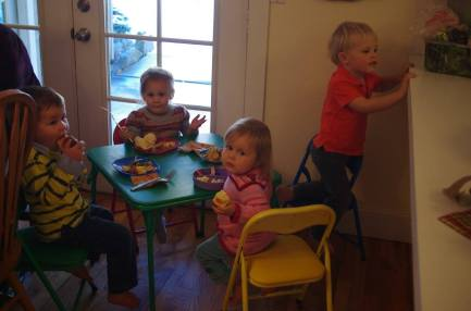 The Mini-Kids' table.