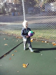 soccer in the tennis courts