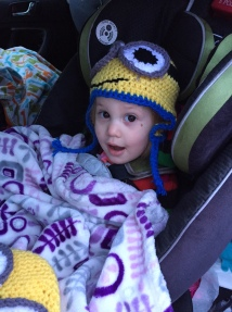 One of the Minion hats I made